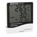 Цифровой настольный термогигрометр с выносным датчиком МЕГЕОН 20209